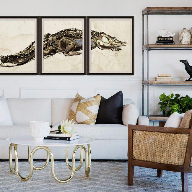 Hanriout Giraud Alligators Triptychs