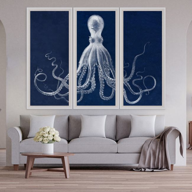 Lord Bodner Triptych in Blue