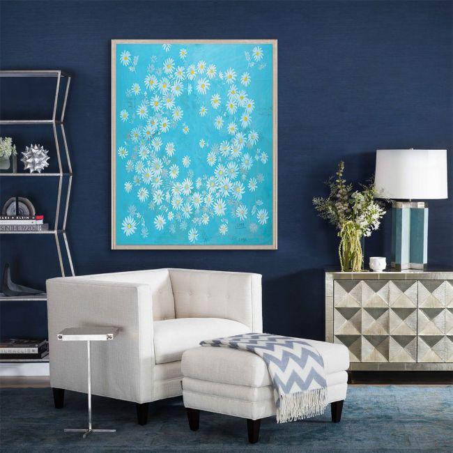 NEW Paule Marrot, Daisies Blue