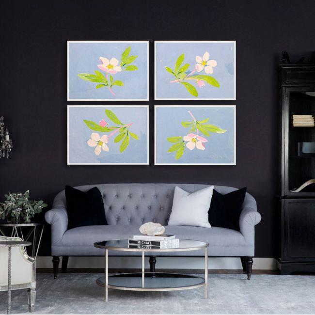NEW Paule Marrot, Floating Flowers 1-4