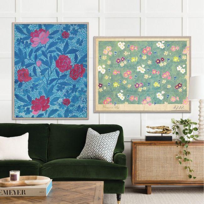 Paule Marrot Flower Field & Floral Blue