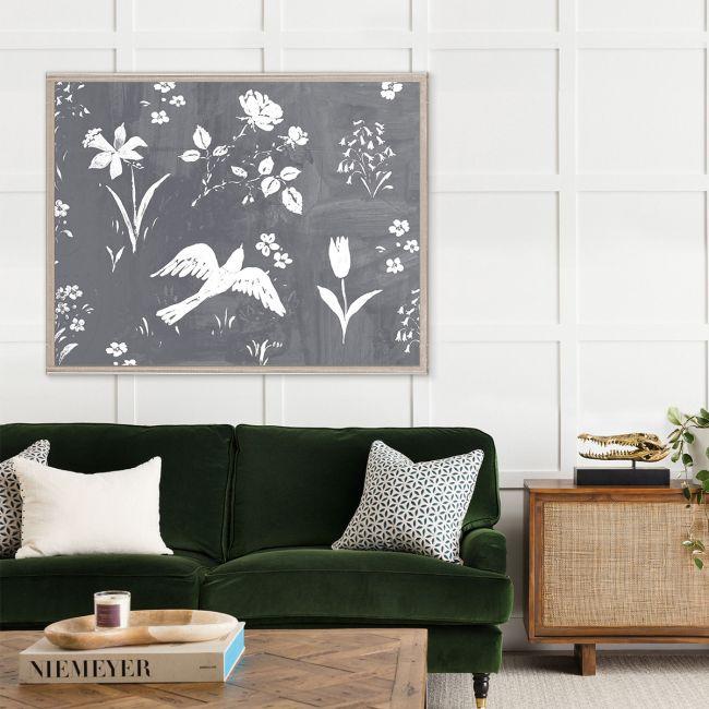 NEW Paule Marrot, Flower Garden Gris