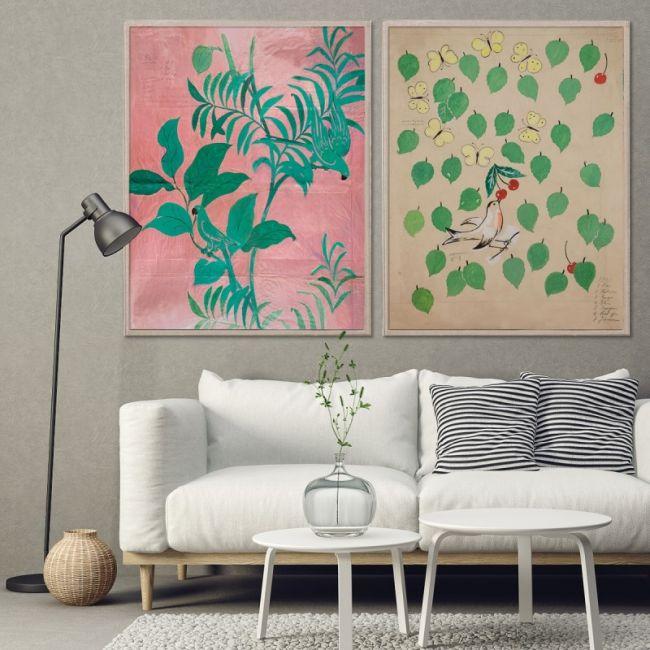 Paule Marrot Pink Birds & Cherries