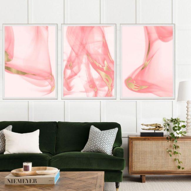 Prairie Triptych Pink
