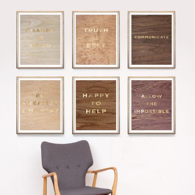 Wood Grain Quote