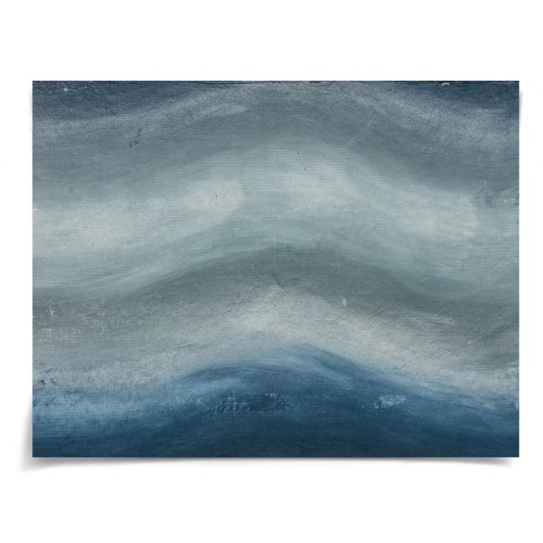 Ethereal Landscape, Blue 2: Unframed Ready to Ship 22x17""