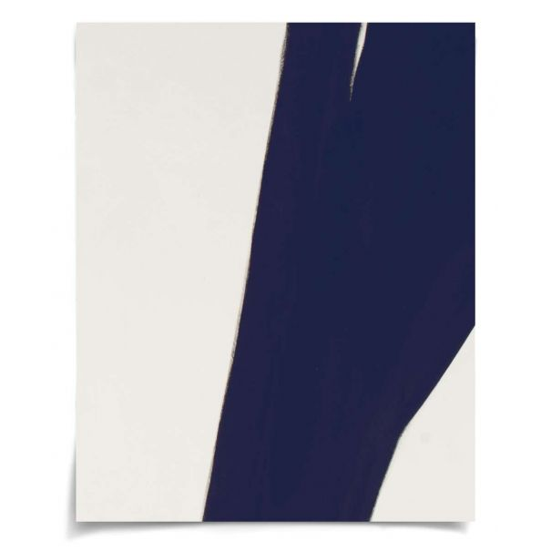 """Line Abstracts in Blue 3: Unframed Ready to Ship 18.75x23.5"""""""