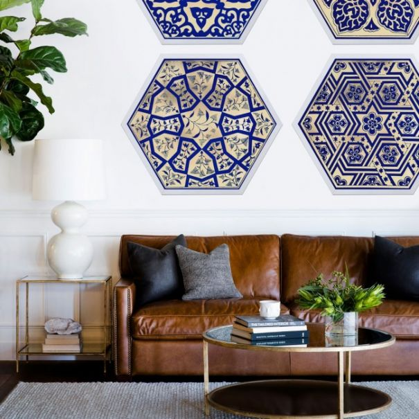 Hexagon Moroccan Tile designs