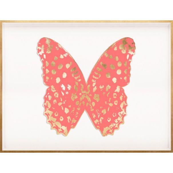 Butterfly Royale, Pink 1 Framed