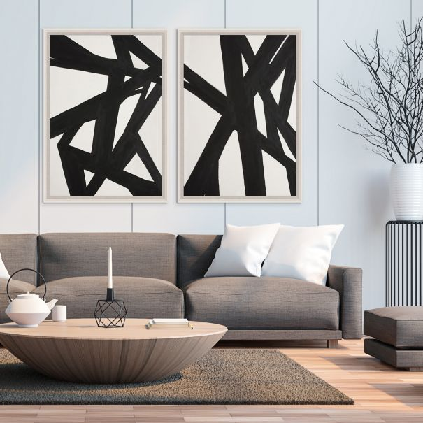 Black & White Abstract Paintings