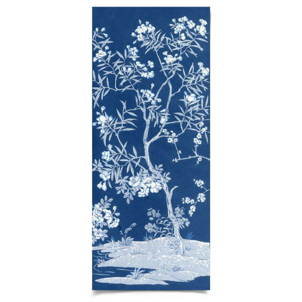 Blue Tree Panel 4: Unframed Ready to Ship 20x48""