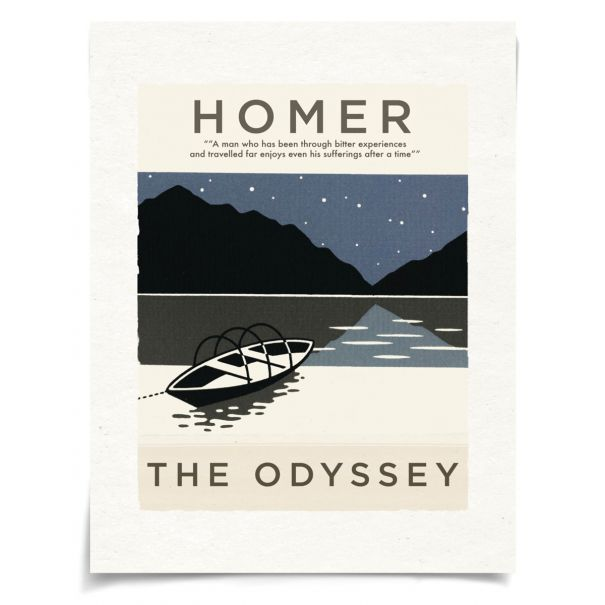Book Covers, Homer: Unframed Ready to Ship 17x22""
