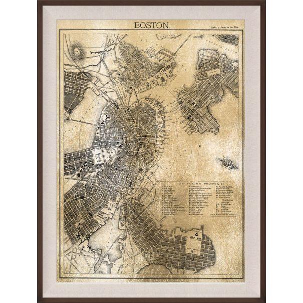 Boston Map, Gold