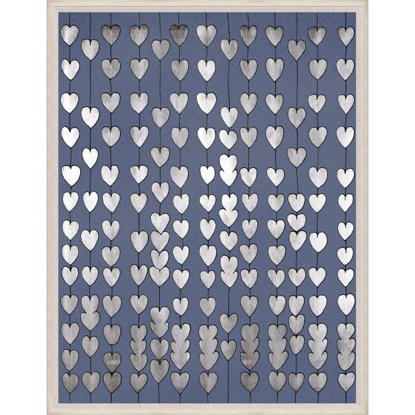 Cartier Hearts, Silver & Navy