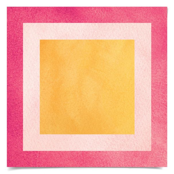 Color Squares No. 10: Unframed Ready to Ship 14x14