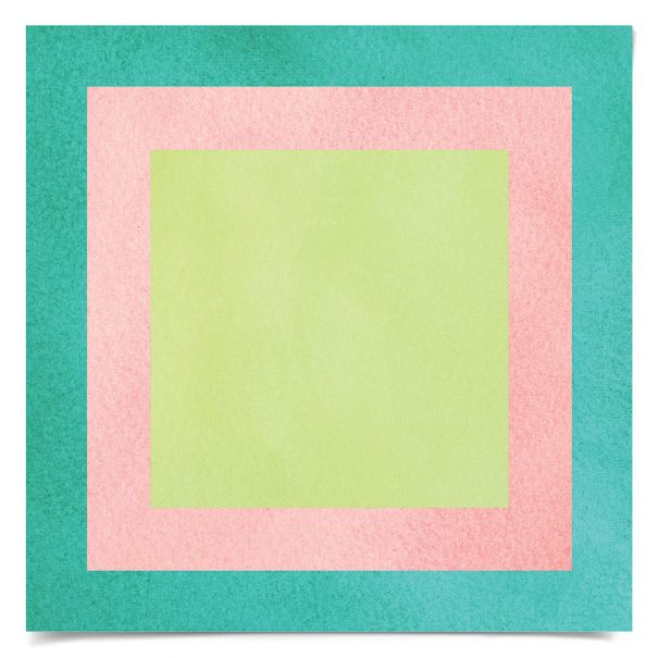 Color Squares No. 12: Unframed Ready to Ship 14x14