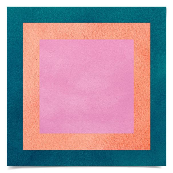 Color Squares No. 6: Unframed Ready to Ship 14x14