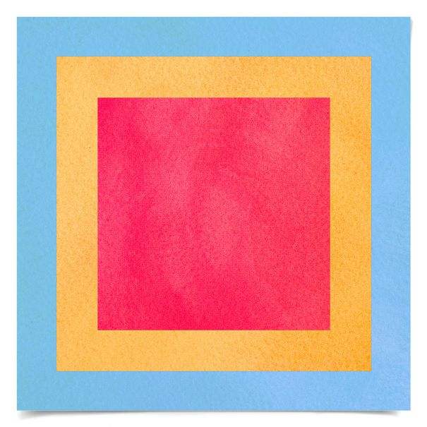 Color Squares No. 8: Unframed Ready to Ship 14x14