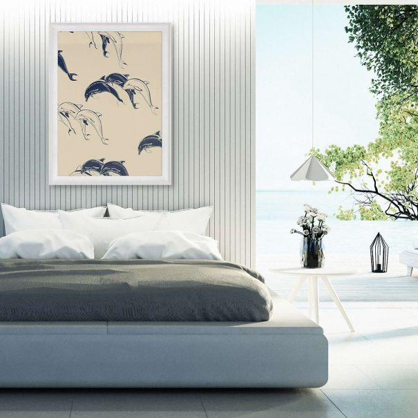 Modern Paradise, Swimming Dolphins 2 - Ready to ship