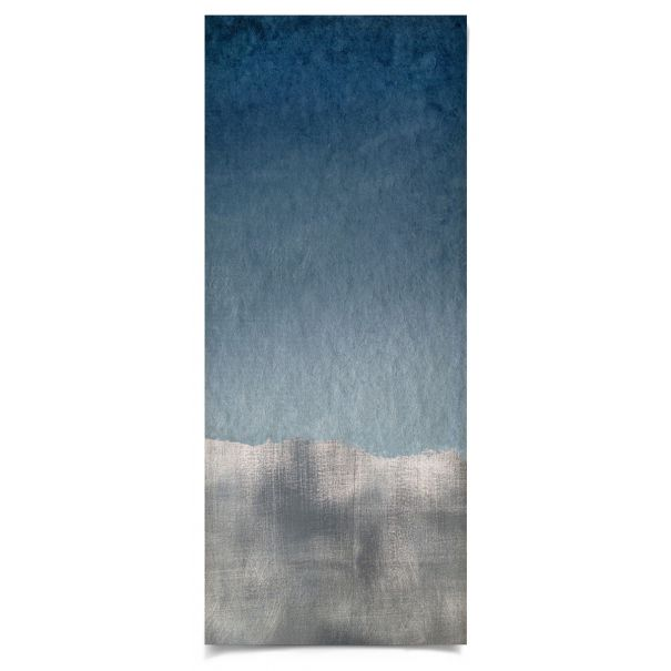Navy/Silver Wave 2: Unframed Ready to Ship 20x48""