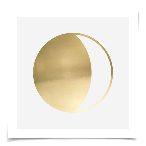 Gold Solar Eclipse No. 3: Unframed Ready to Ship 14x14""