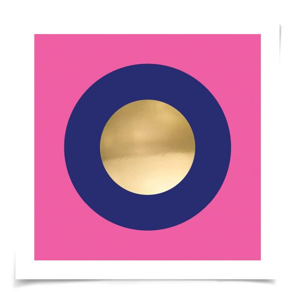 Mod Circles No. 1: Unframed Ready to Ship 14x14""