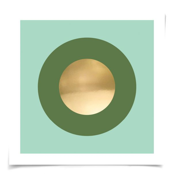 Mod Circles No. 6: Unframed Ready to Ship 14x14""
