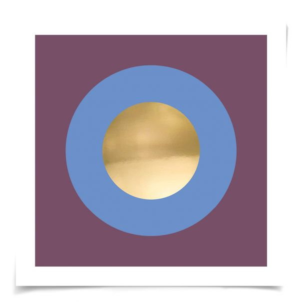 Mod Circles No. 7: Unframed Ready to Ship 14x14""