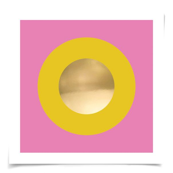 Mod Circles No. 8: Unframed Ready to Ship 14x14""
