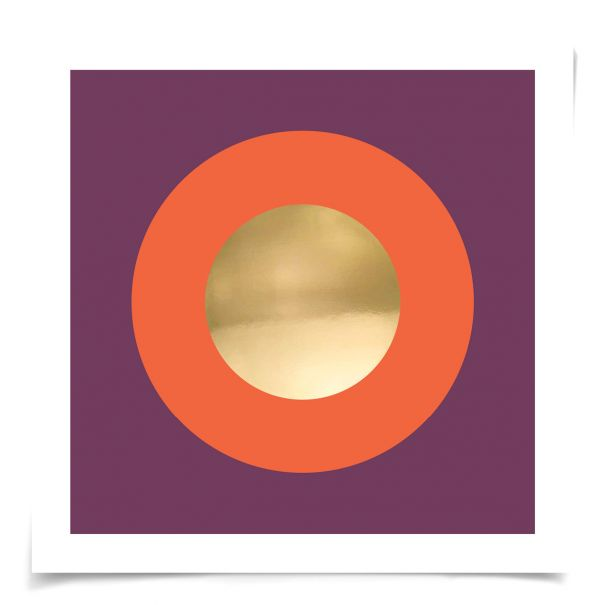 Mod Circles No. 9: Unframed Ready to Ship 14x14""