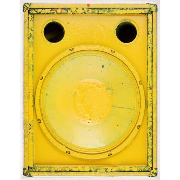 Sound Art, Yellow: Unframed Ready to Ship 42x54