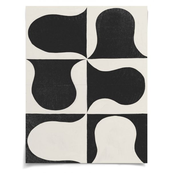 Paule Marrot, Black & White Abstract Series 2, 2: Unframed Ready to Ship 42x54""