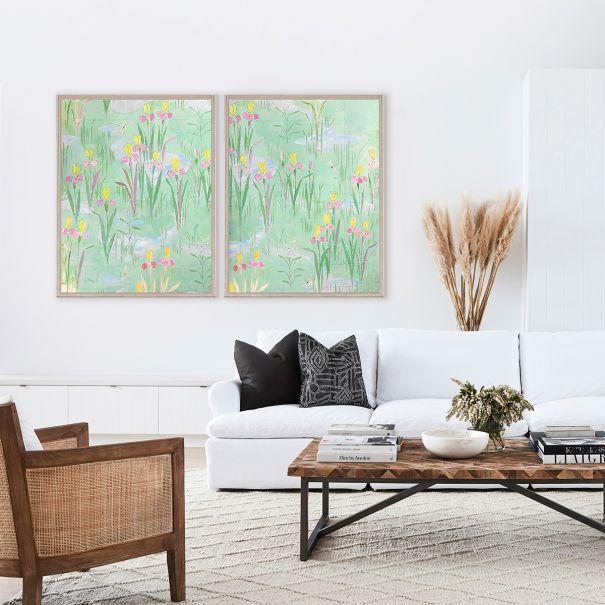 NEW Paule Marrot, Fleurs Vertes 1 & 2