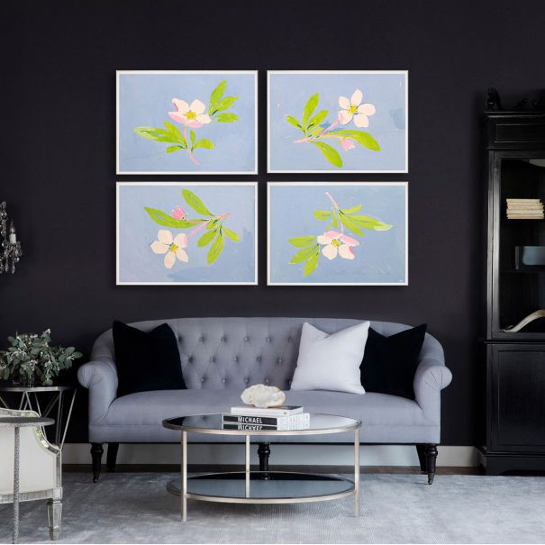 NEW Paule Marrot, Floating Flowers 1-4