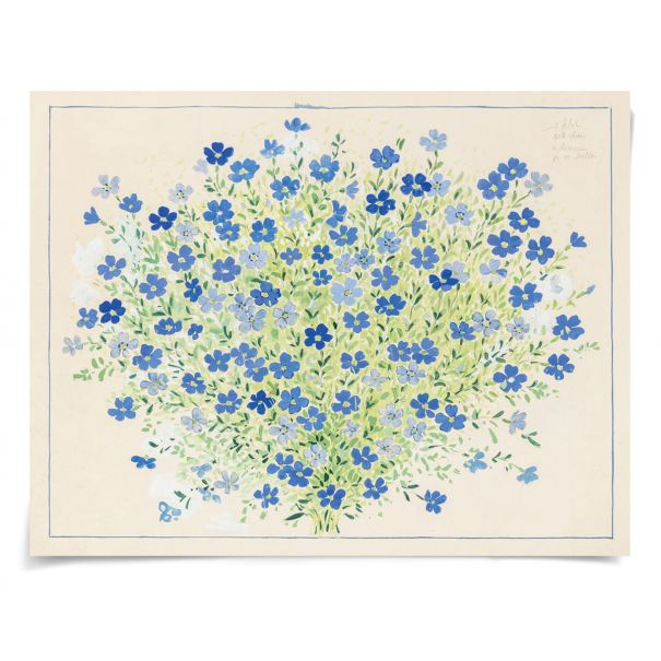 Paule Marrot, Geranium: Unframed Ready to Ship 43x31""