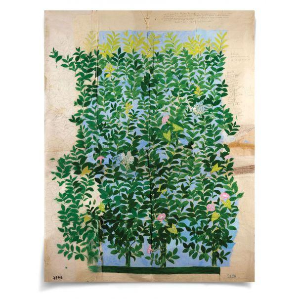 """Paule Marrot, Green Leaves: Unframed Ready to Ship 42x54"""""""