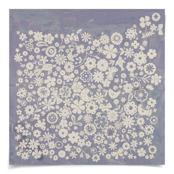 Paule Marrot, Lavender: Unframed Ready to Ship 29x29""