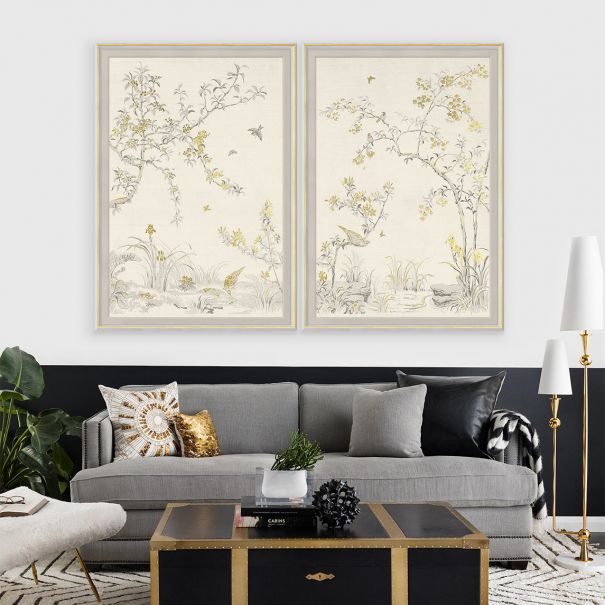Rococo, Gold & White 1 & 2: Large