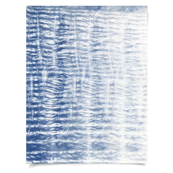 Shibori Blue 1: Unframed Ready to Ship 27x35