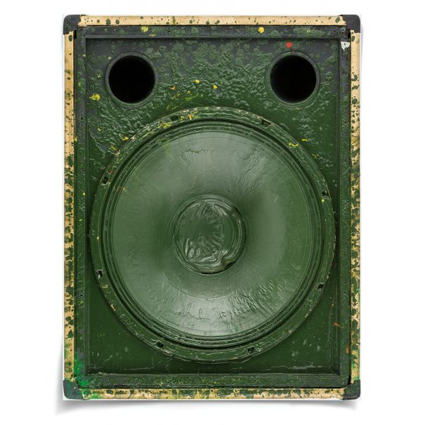Sound Art, Green: Unframed Ready to Ship 42x54""