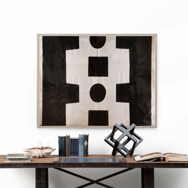 Paule Marrot, Black & White Abstract - Ready to ship