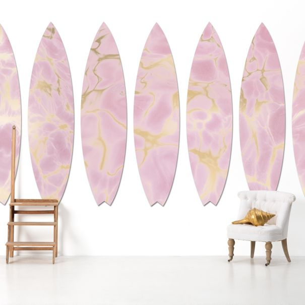 Surfboard in Pink