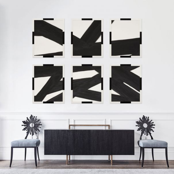 Line Abstracts in Black