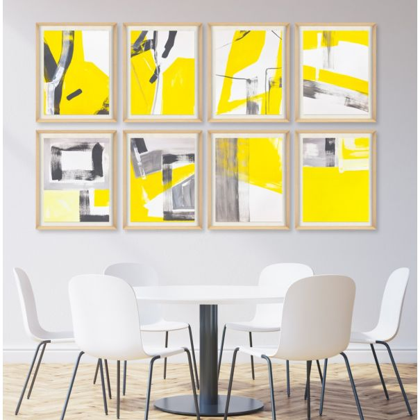 Modern Yellow Abstracts