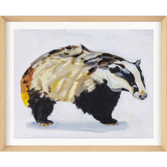 Alison Jones Animal Watercolor: Badger