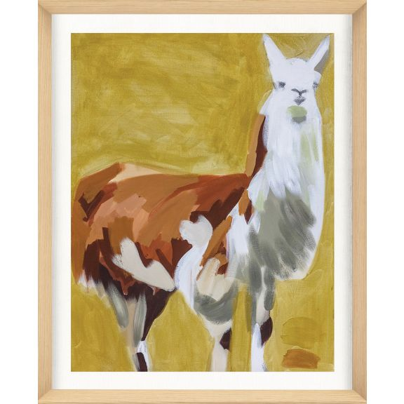Alison Jones Animal Watercolor: Llama