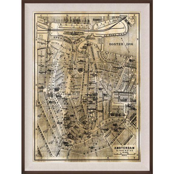 Amsterdam Map, Gold
