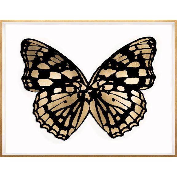Butterfly Royale, Black 1 Framed