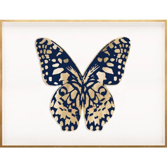 Butterfly Royale, Blue 1 Framed