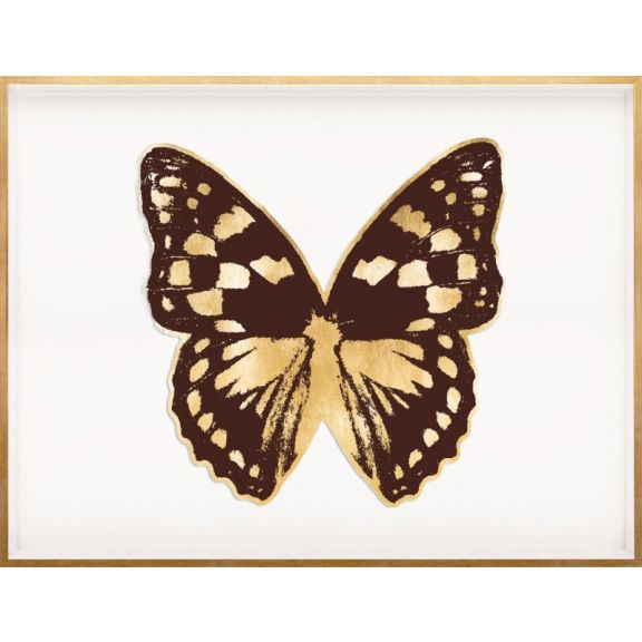 Butterfly Royale, Brown 1 Framed
